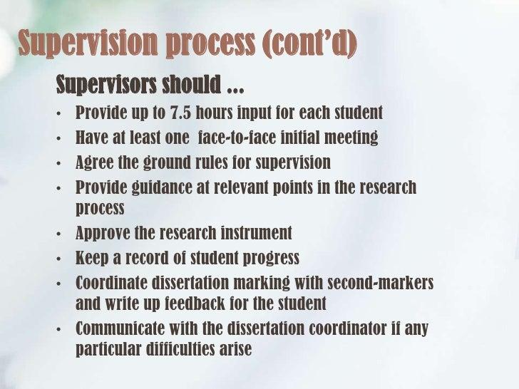 Dissertation supervisor meeting