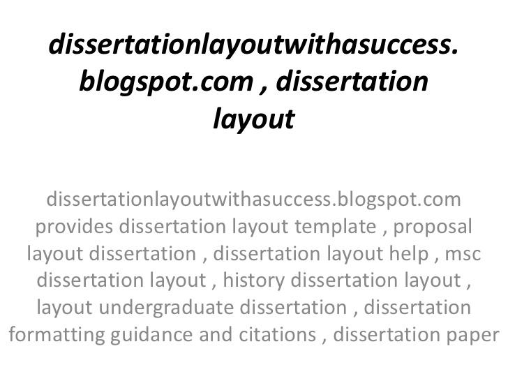 dissertation layout contents