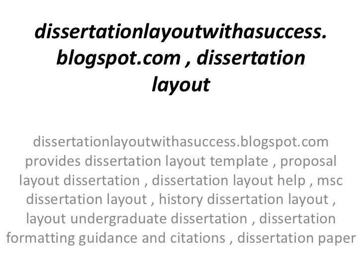 Dissertation layout