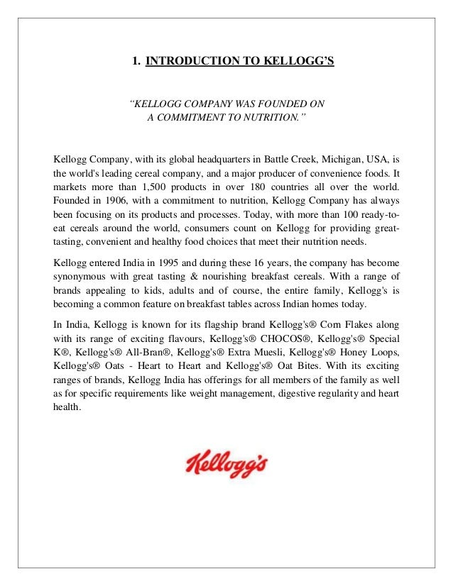 the kelloggs company essay Kellogg's marketing essay to improve the market capitalisation of the company, kellogg's introduced 'cheese-it' a baked cheese snack crackers in the.
