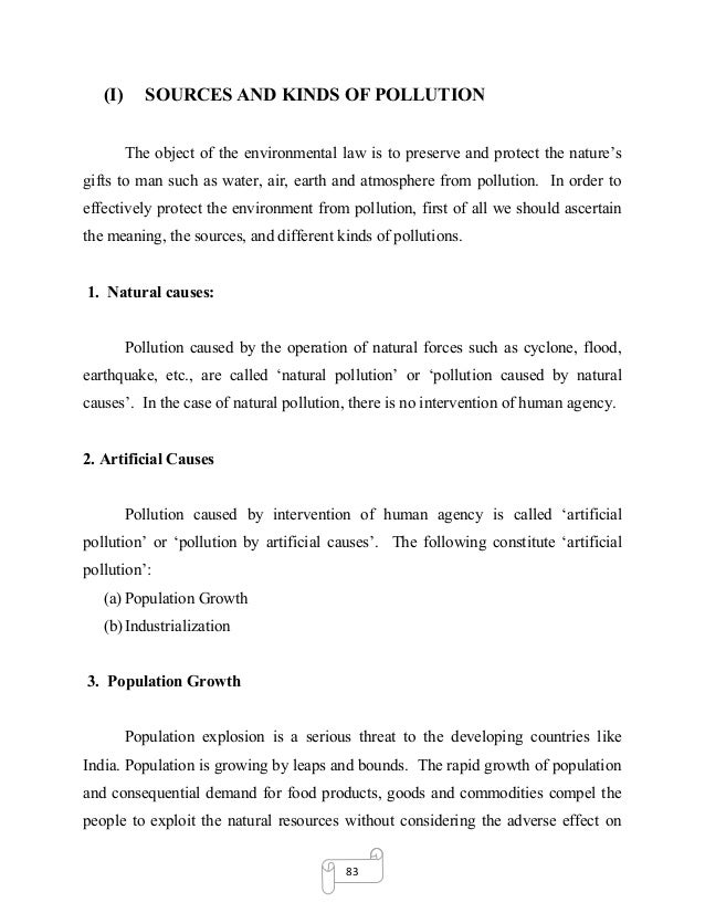 environmental pollution essay for students