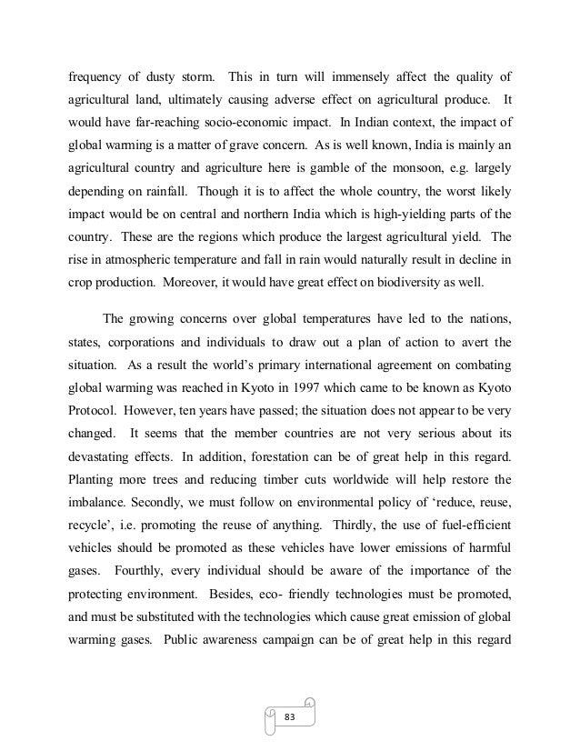Environmental pollution short essay in english