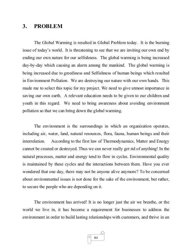 Global warming definition essay