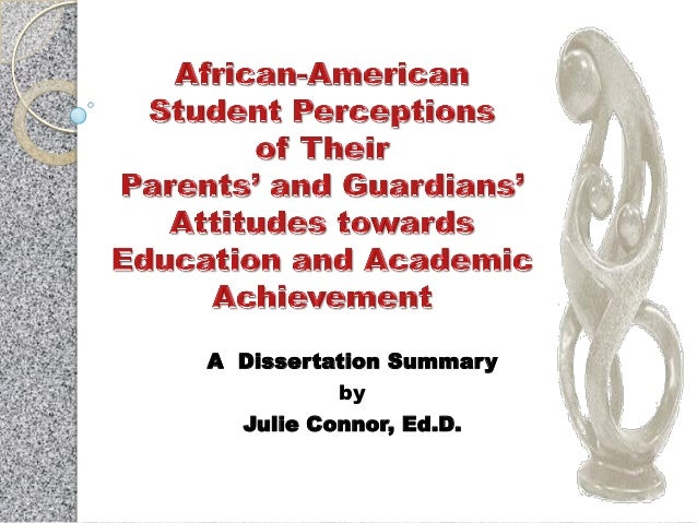 Dissertation perceptions of education