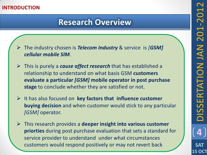 Dissertation Statistical Services Marketing