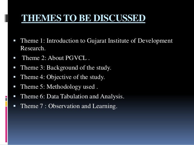 Discussion of dissertation theme on the academic council