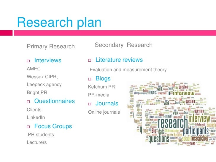Dissertation proposal research plan