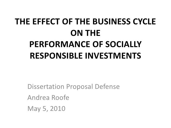 presentation for thesis defence
