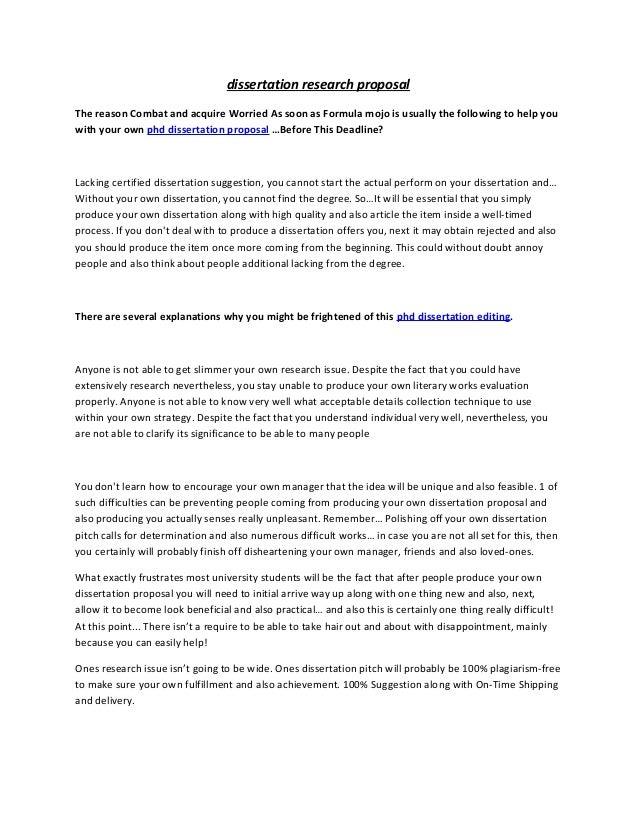 Proposal And Dissertation Help Nursing