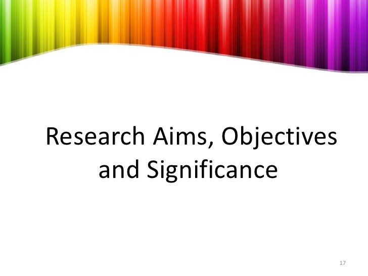 Dissertation proposal aims and objectives