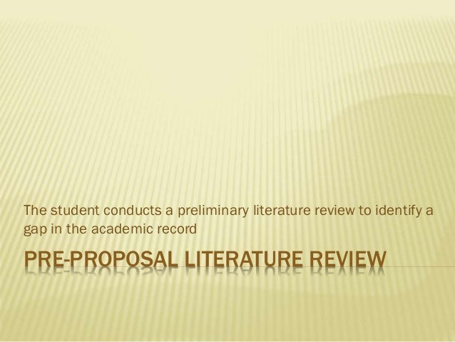 Literary Review Dissertation