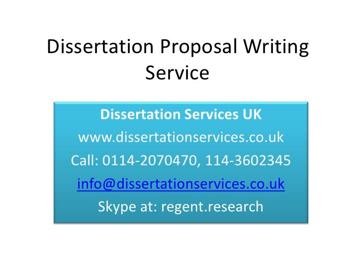 Dissertation proposal service desk