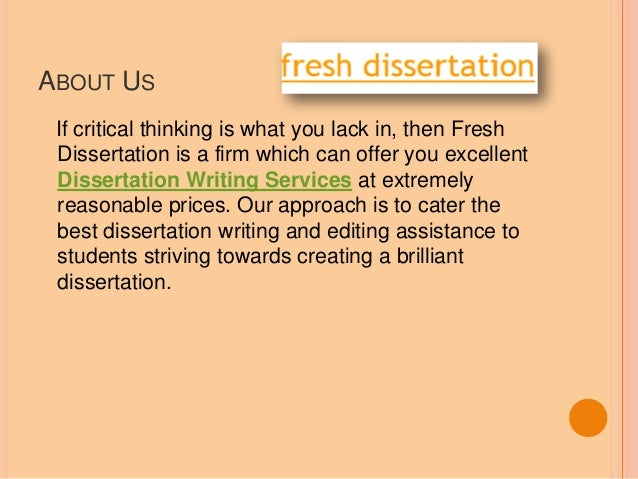 Dissertation Proposal Service Research