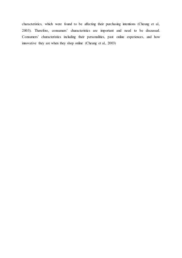 online shopping behaviour dissertation
