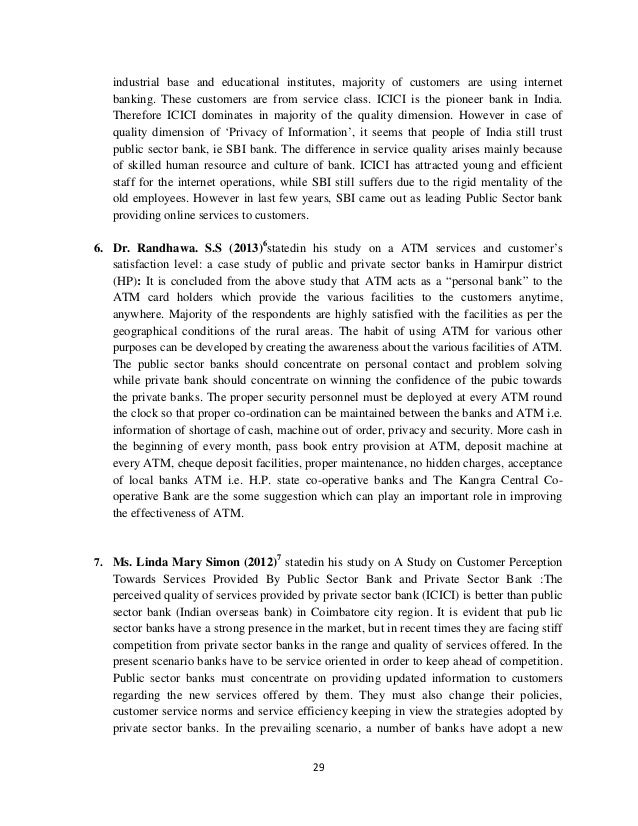 Literature review on customer perception towards online banking essay formal letter complaint bus service