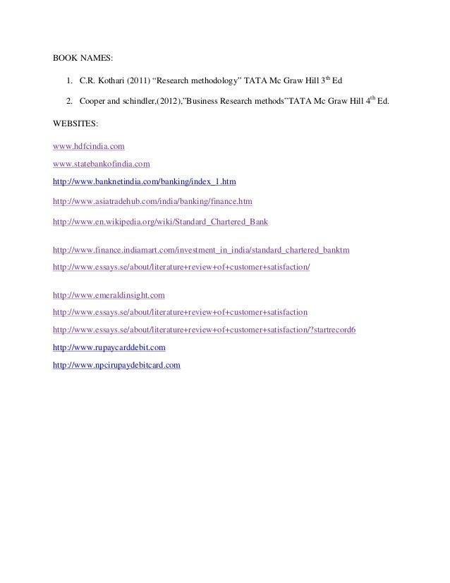Customer satisfaction dissertation