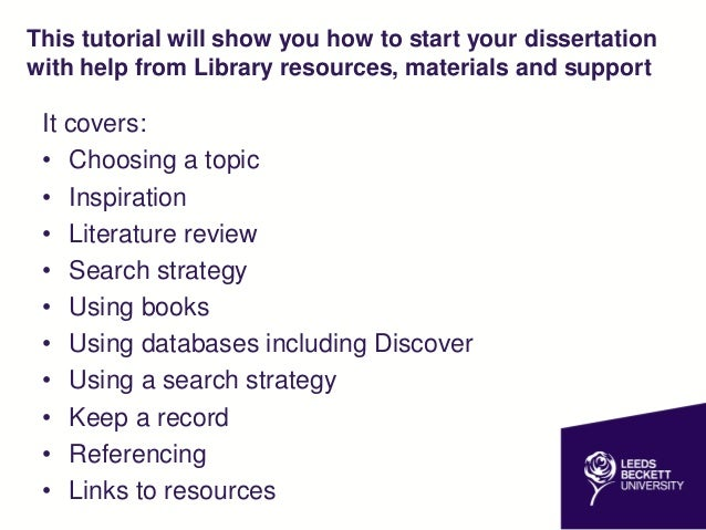 How to start your dissertation