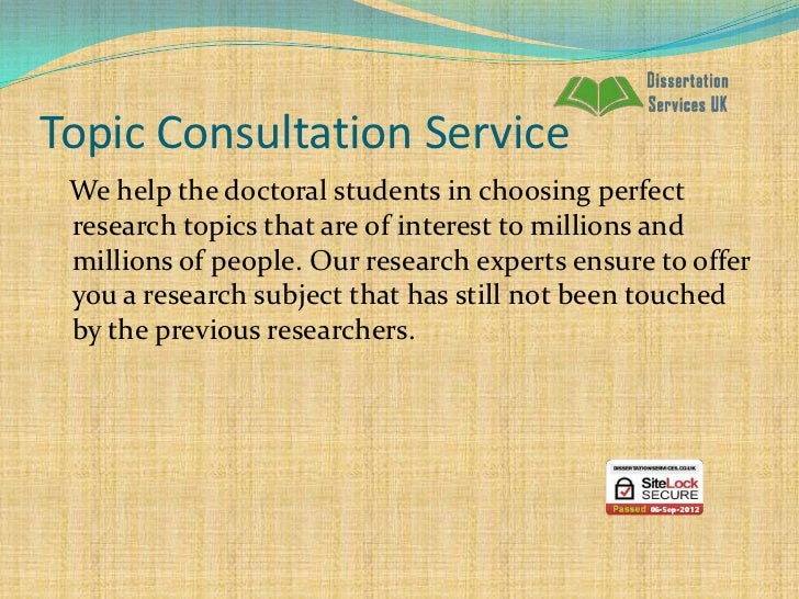 Help Writing Dissertation Proposal Services