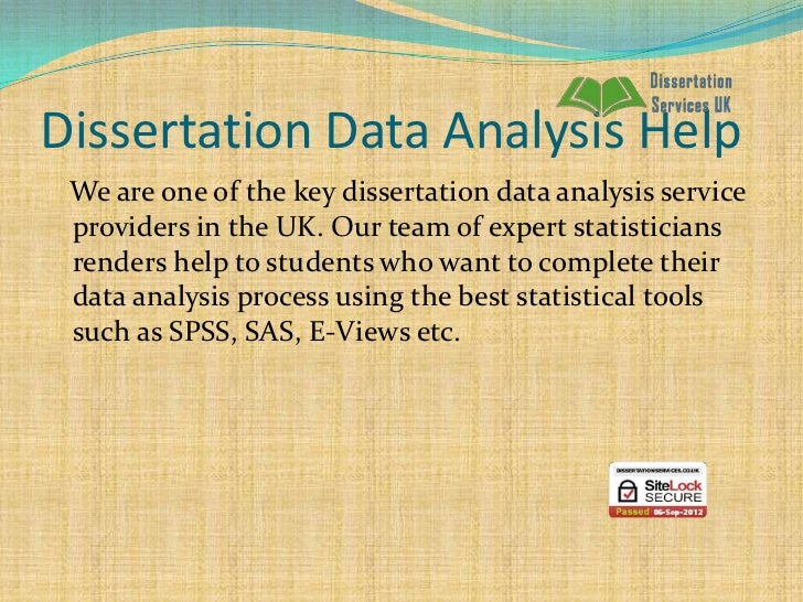 Dissertation Data Analysis Help