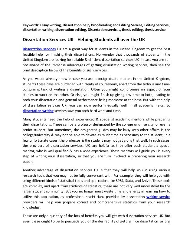 dissertation support uk