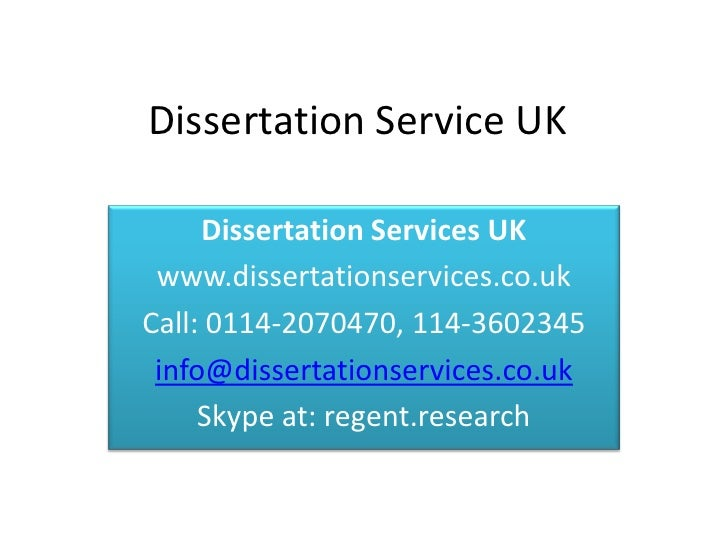 Dissertation Review