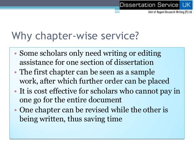 order of sections in a dissertation