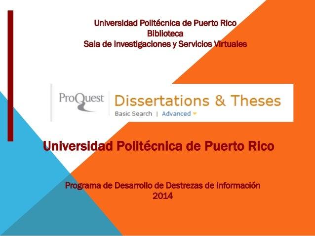 Dissertations & Theses @ Universidad Politécnica Puerto Rico
