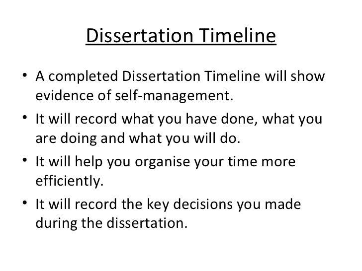 Sample Dissertation Timeline