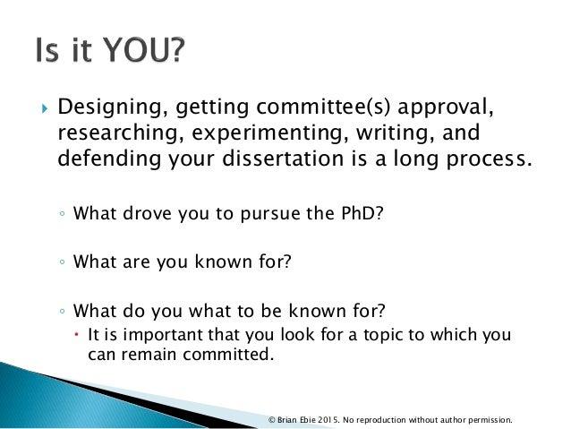 Choosing dissertation committee members