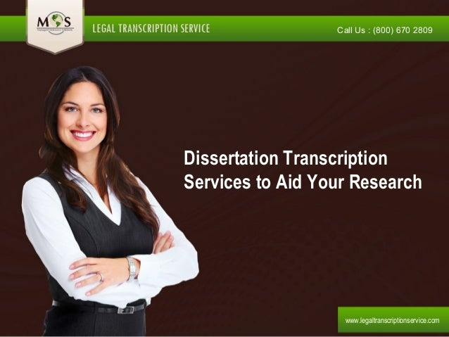 dissertation interview transcription service