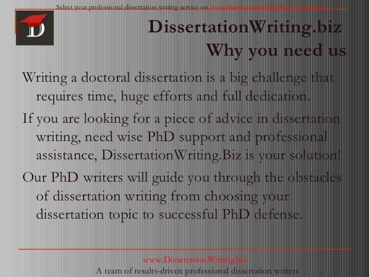 person should dissertation written