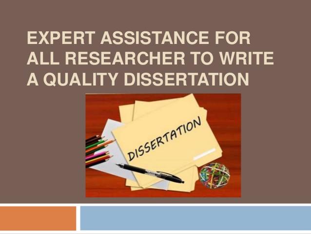 dissertation writing assistance