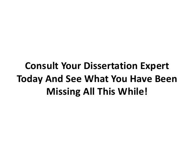 Dissertation expert