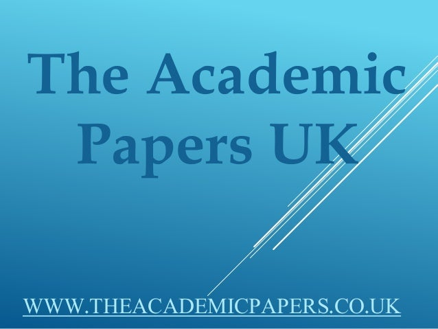 academic papers uk