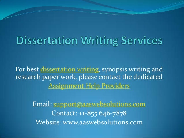 Dissertation Writing Services | Dissertation Writing Help | Dissertation Consulting Services