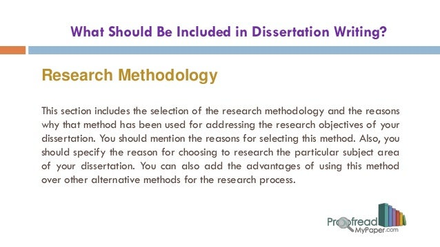 writing a methodology chapter in your dissertation Your dissertation's introduction you should write a draft of your this can be as simple as 'chapter 2 discusses my chosen methodology, chapter 3.