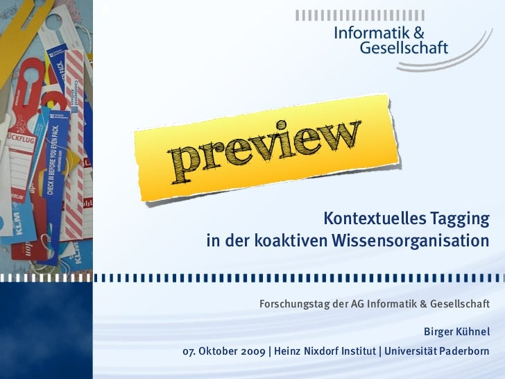 1         preview                          Kontextuelles Tagging          in der koaktiven Wissensorganisation            ...