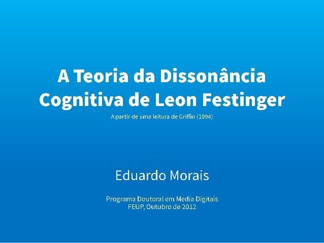 PDMD Teoria da Comunicação - Dissonância Cognitiva