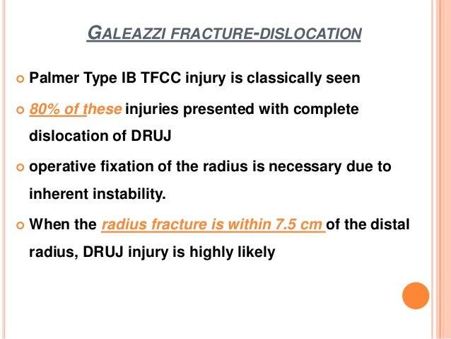 Distal radioulnar joint injuries