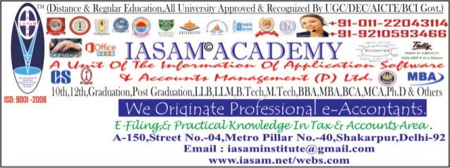 D istance courses by iasam