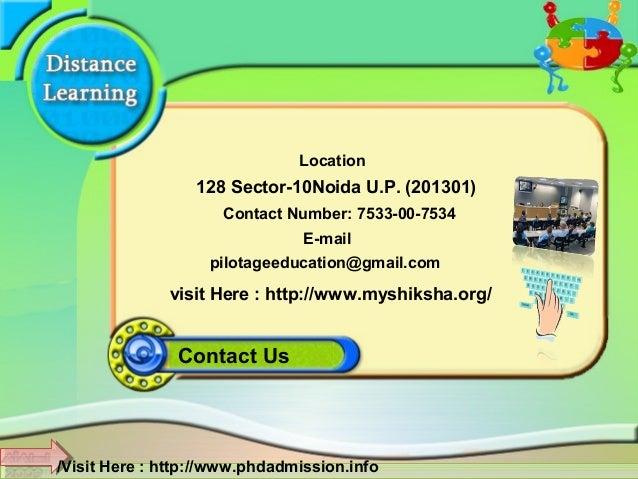Phd distance education