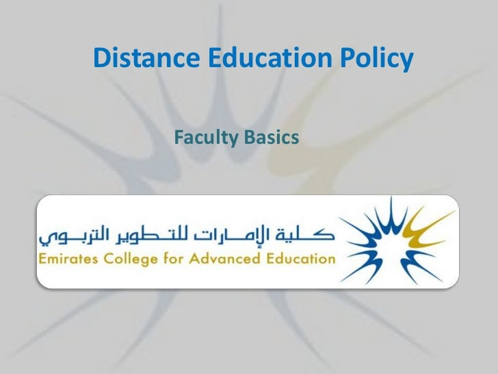 Distance Education Policy      Faculty Basics