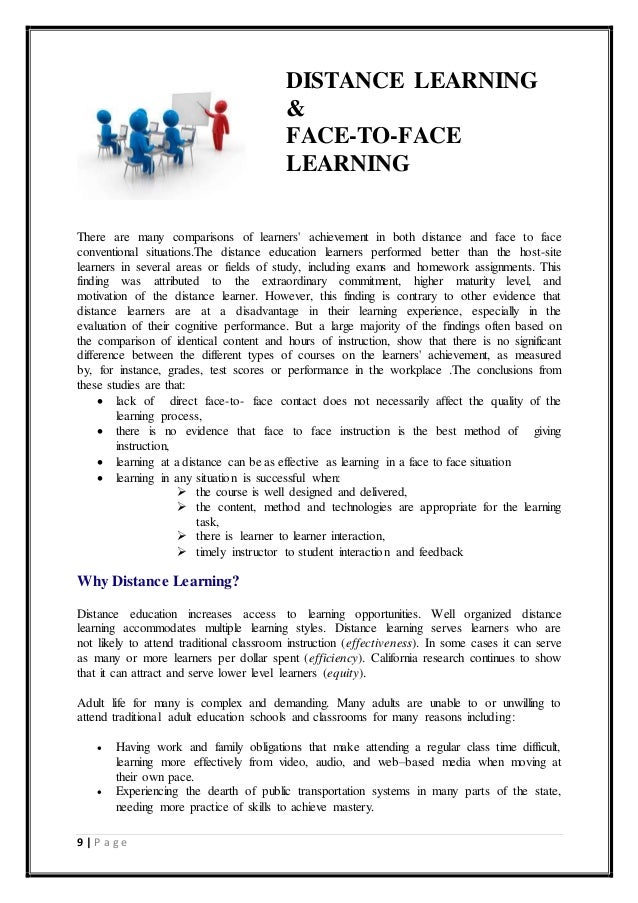 essay about distance learning Disadvantages of Distance Education