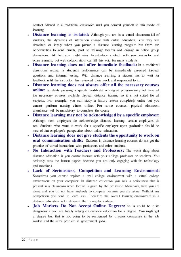 traditional learning essay
