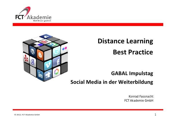 Distance Learning                                            Best Practice                                            GABA...