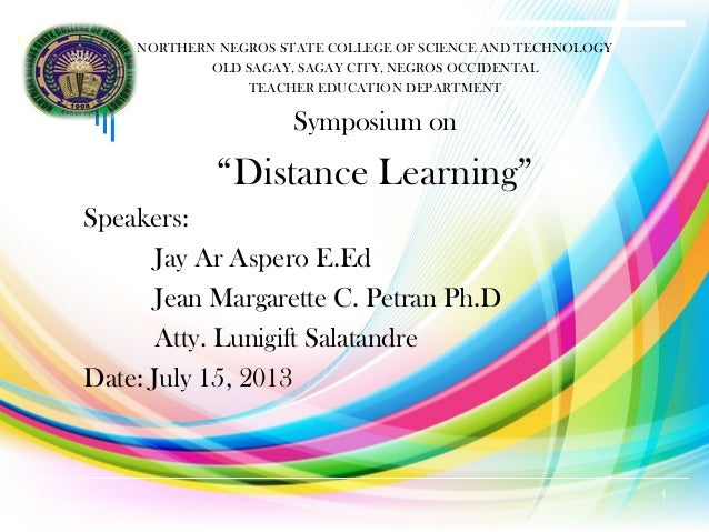 Distance  learning final report