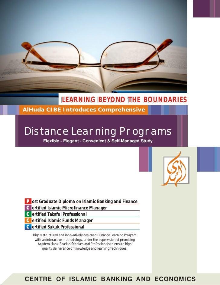 LEARNING BEYOND THE BOUNDARIESAlHuda CIBE Introduces ComprehensiveDistance Learning Programs           Flexible - Elegant ...