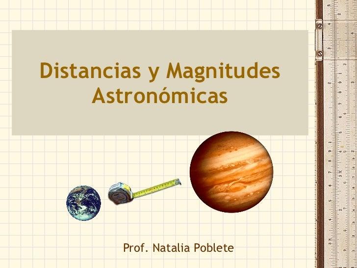 Distancias astronomicas