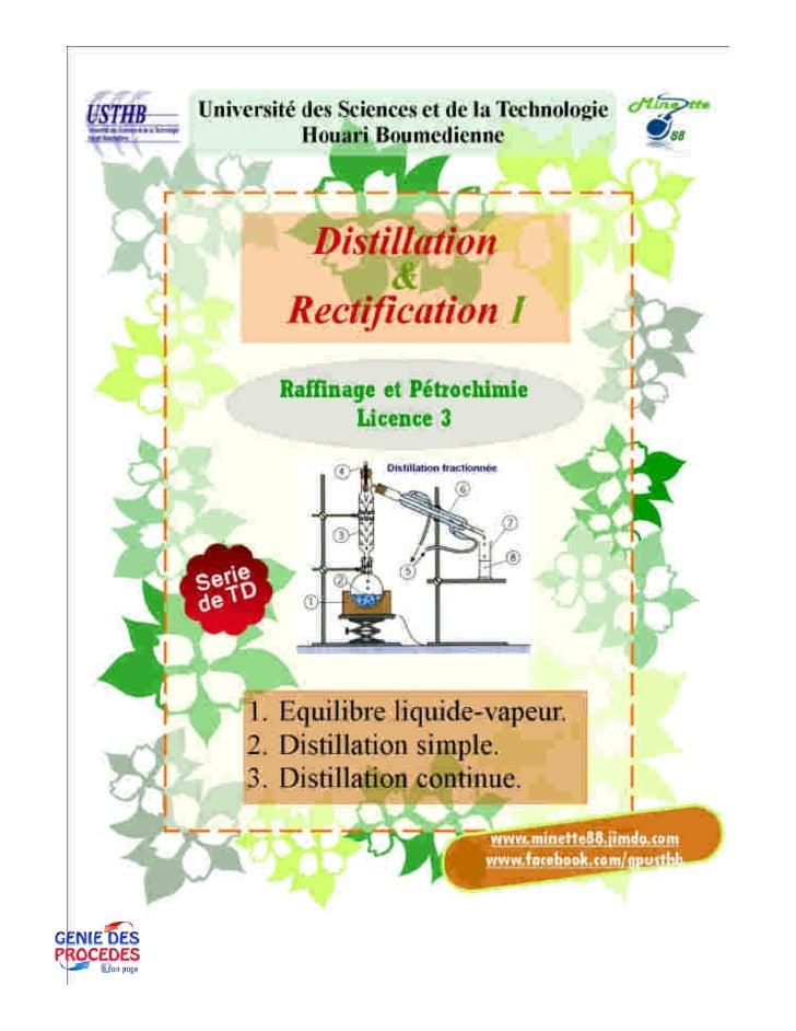 Distillation 1 td
