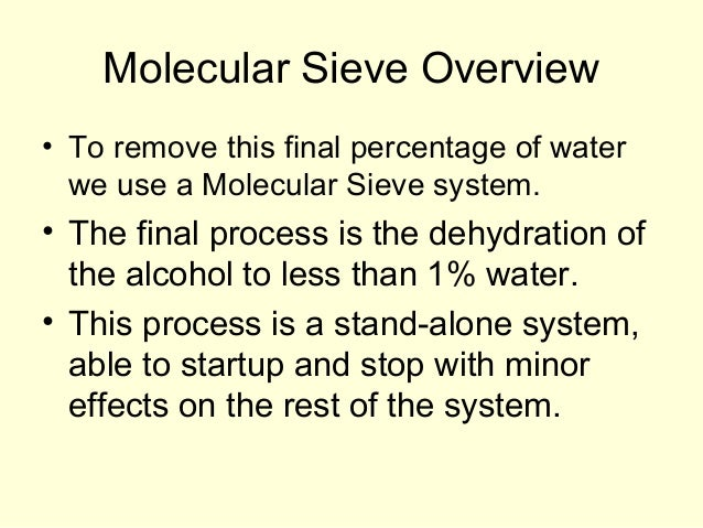 dehydration of an alcohol distillation and Solvent dehydration  many commercial hydrophilic solvents form azeotropes or have vapor-liquid equilibrium (vle) pinch points with water, which makes solvent recovery by conventional distillation difficult.
